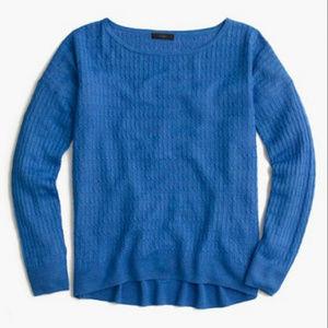 J. CREW linen cable crewneck sweater
